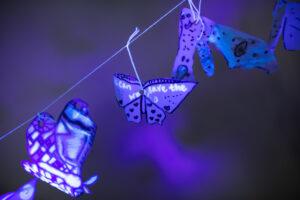 Make stunning moths from plastic milk bottles. Image credit: Art and Energy